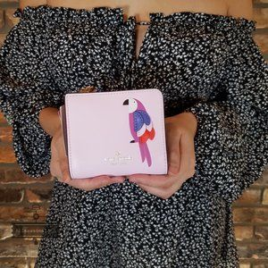 NWT kate Spade Flock Party Wallet Small Zip Bifold